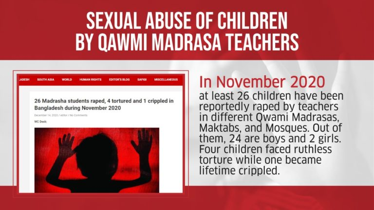 Sexual Abuse of Children by Madrasa Teachers